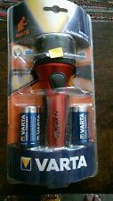 """VARTA Industrial RUBBER Light LED Torch 2D batteries """"Varta ref: 12641"""" NEW"""