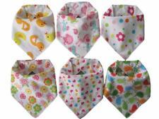 Baby Bandana Dribble Bibs (Girl 6 Pack) Pink.teething babies shower gift burp