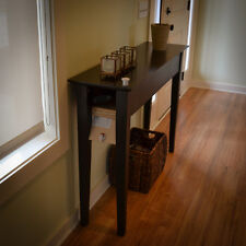 Secret Compartment Sofa / Entry Table - Black on Oak- RFID Lock -Diversion Safe