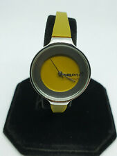 ladies monol of denmark silver tone watch,green face & strap,silver hands,#bb.