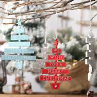 Christmas Wooden Pendant Hanging Door Decorations Tree Home Ornaments Crafts 💗