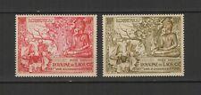 Royaume du Laos 2 timbres non oblitérés 1956 poste Aérienne Bouddha /T2770