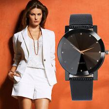 Women Mens Luxury Quartz Analog Watch Casual Gold Leather Band Wrist Watches AU
