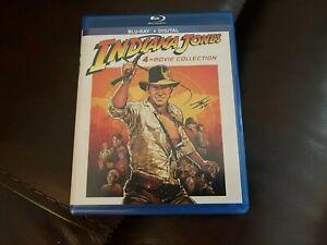 INDIANA JONES 4-Movie Collection (4 Blu-ray Discs - No Digital  ) Harrison Ford