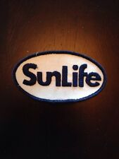 "Vtg SunLife Financial Insurance Sew On Patch 3.5"" Sun Life Embroidered Canada"