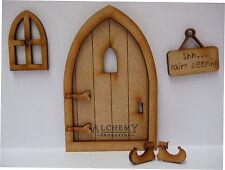 Wooden Fairy Door - Sleeping Fairy Craft Kit with Fairy Window & Fairy Slippers