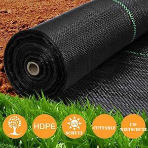 1-4m Unkrautvlies Gartenflies Bodengewebe schwarz Bändchengewebe 90g/m² 10m