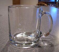 1 USA Classic Coffee Mug Cup Clear Glass D Handled Glasses Tea Hot Drinks