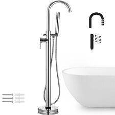 Floor Mounted Bathtub Faucet Free Standing Tub Filler Mixer Tap Hand Shower Set