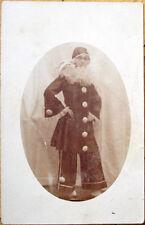 1910 Realphoto Postcard: Pierrot Clown Woman, Costume