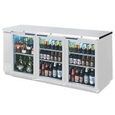Beverage Air 72in Sliding Glass Door Back Bar Refrigerator With Ss Finish