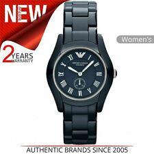 Emporio Armani Ceramic Ladies Watch AR1471│Roman Numeral Blue Dial Ceramic Strap