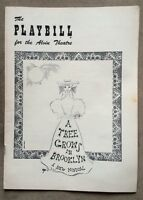 "Vintage 1950s PLAYBILL ""A Tree Grows In Brooklyn"" For The Alvin Theatre"