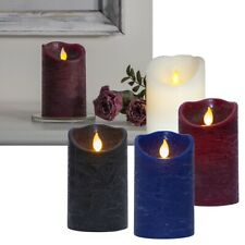 LED Genuine-Wax Candle with Timer & Portable Flame, Flexible Flickering Candles