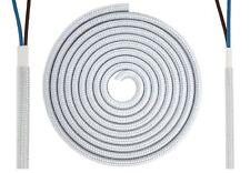Textilkabel flach 2x0,75mm² alu-silberfarbig Synthetik Lampenleitung Lampe D0516