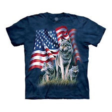 The Mountain Wolf Flag Adult Unisex T-Shirt