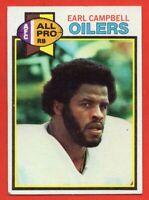 1979 Topps #390 Earl Campbell EX/EX+ WRINKLE Houston Oilers HOF ROOKIE RC