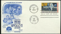 C76 Moon Landing Cachet - 1969 Dual Cancel Fleetwood Cachet FDC PENCIL Erased