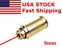 USA Brass CAL 9mm Red Laser Bore Sight Cartridge Bullet Shap Boresighter Battery