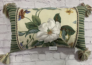 Waverly Williamsburg Garden Images Magnolia Bolster Pillow Tassel Trim 2003