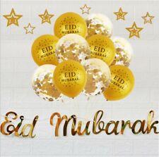 12Pcs EID MUBARAK Balloons Decor Ramadan Decoration Silver Gold EID Balloon /US