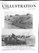 Front de l'est manoeuvres chars Wehrmacht & Soviètiques WWII 1941 ILLUSTRATION