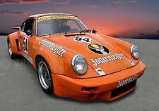 1974 Porsche 911 RSR Jagermeister Vintage Classic Race Car Photo CA-0547