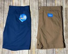 New Men Lot of 2 Columbia Shorts Stretch Size 42 Blue Khaki Regular Fit