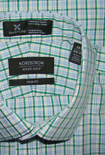 NORDSTROM TRIM FIT WRINKLE FREE CASUAL OR DRESS SHIRT 15 3/4 35