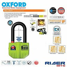 OXFORD BOSS ALARM 14MM SHACKLE U LOCK LONG 100dB THATCHAM APPROVED MOTORCYCLE