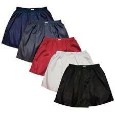 Mens Thai Silk Boxer Shorts 5 Pairs Dark Blue, Grey, Red, White, Black Underwear