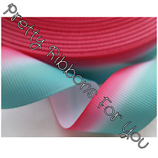 "Ombre 1/4"" 6mm wide grosgrain ribbon the listing is for 10 yards total"