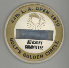 RARE 1970 LA OPEN Golf Committee Badge PIN Button GOLFING Los Angeles NORTHERN