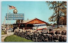 Postcard PA Gettysburg Tour Center Vintage Photo View E7