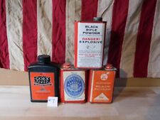 4 Black Powder Containers/Tins Curtis's & Harvey's, Hodgdon, Gearhart-Owen, Goex