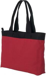ZUZIFY Canvas Zippered Tote Bag. DX0787
