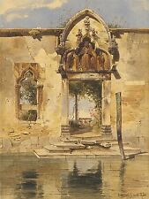 CARL WERNER GERMAN PORTAL MADONNA MISERICORDIA CANAL ART PAINTING POSTER BB5060A