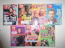 7 Lot TV Guides, Star Trek Voyager Warp Factor, PB 1990's  SF2