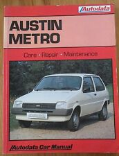 AUSTIN METRO 1980 - 1986 AUTODATA CAR MANUAL CARE MAINTENANCE REPAIR BOOK