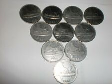 """-India Coins Lot - 10 Old """" 50 Paise """" Coins -1988 -Stainless St - Rare # 11Ar"""