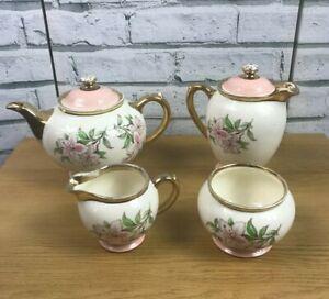 Vintage Gibsons of Staffordshire Chelsea Lillies Tea Set 2 x Teapots Milk Sugar