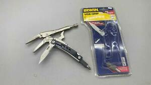"""Irwin 6"""" Vice Grips With Knife And Screwdriver"""