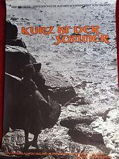 Kurz ist der Sommer Kinoplakat Filmplakat A1 Mauno Kurkvaara 1960ger