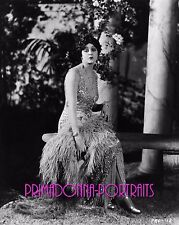 "BARBARA LaMARR 8X10 Lab Photo 1925 ""HEART OF A SIREN"" SHIMMERING GRACE PORTRAIT"