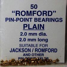 PECO JR15 -2mm Dia x 2mm Brass Plain Flush 'Romford' Axle Bearings x 50 1st Post