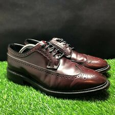 Hanover Master Flex Mens Burgundy Oxfords Wingtip Shoes Size 12 EEE 2350