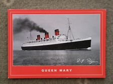 CUNARD QUEEN MARY OFF ISLE OF WIGHT - MODERN CARD