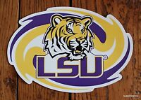 Tigers Car Magnet Louisiana State College Football Sports Decor auto LSU fans