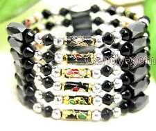 """SALE Black Cloisonne Hematite & Black Magnetic Bead 29"""" necklace /Bracelet-5182"""