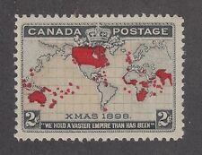 Canada Sc 85 var MNH. 1898 2c Map, Golden Oceans variety